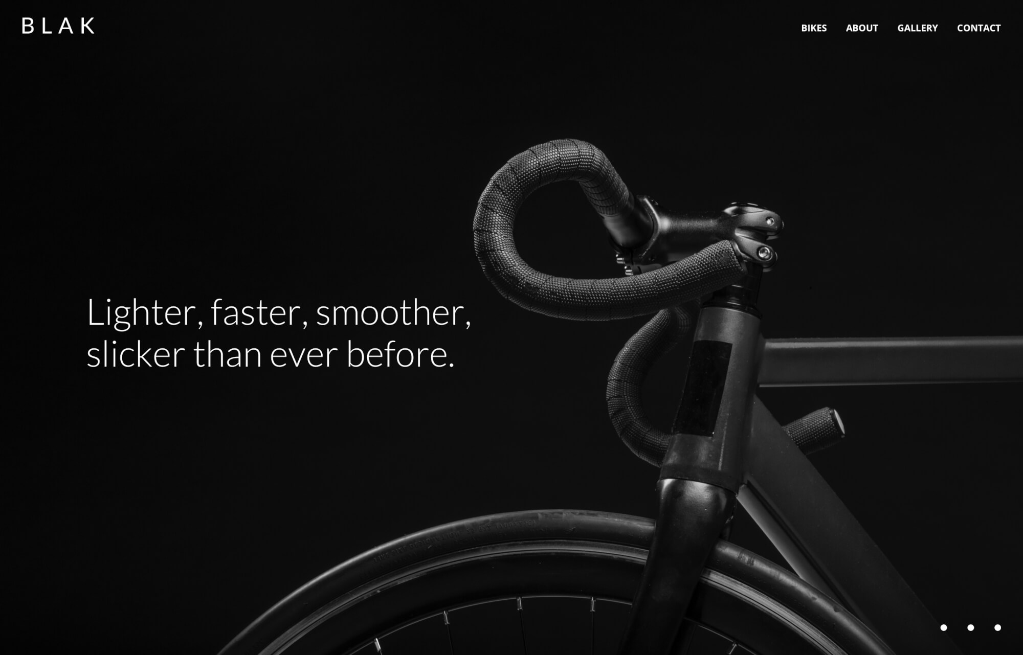 Modular Orange Website for BLAK Bikes