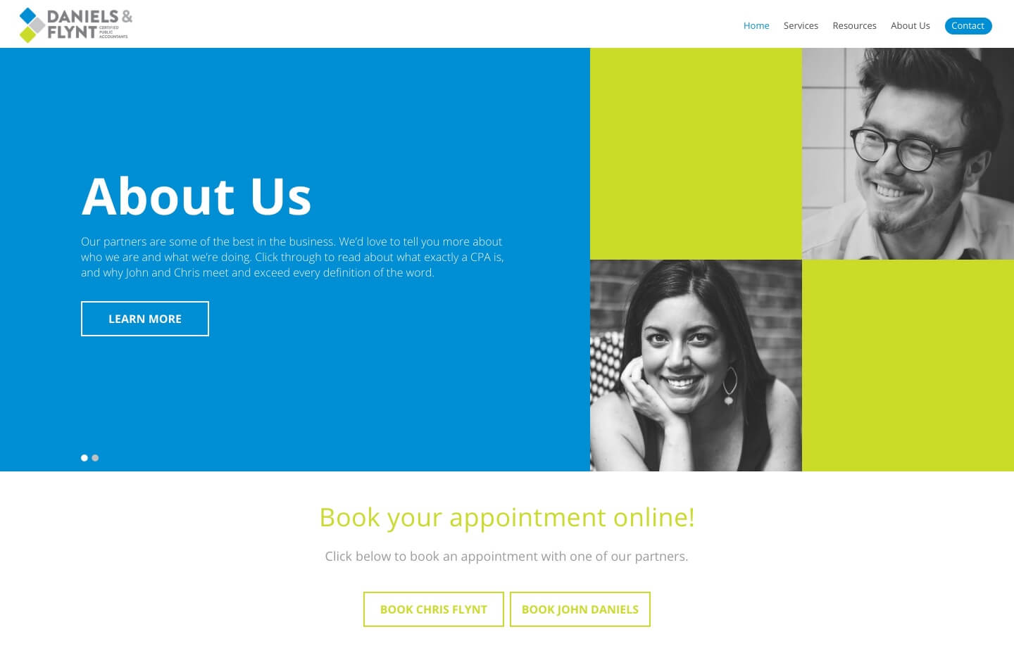 cpa and accounting firm daniels and flynt website