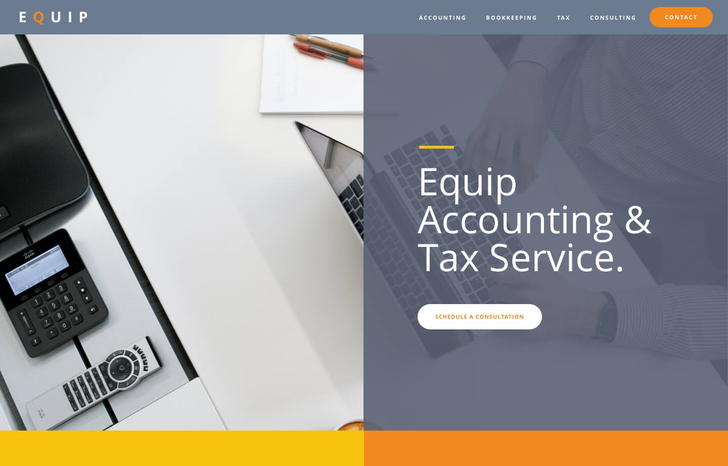 cpa and accounting firm website for equip accounting and tax service