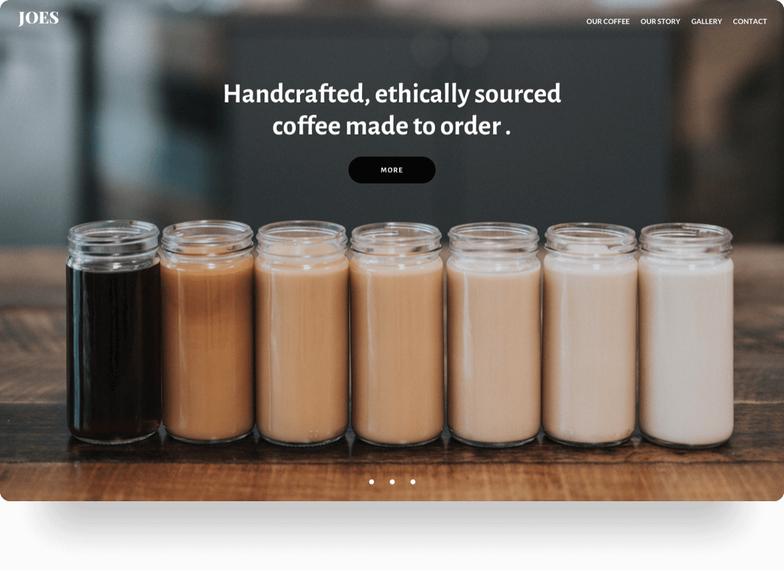 website for joes coffee and beverages