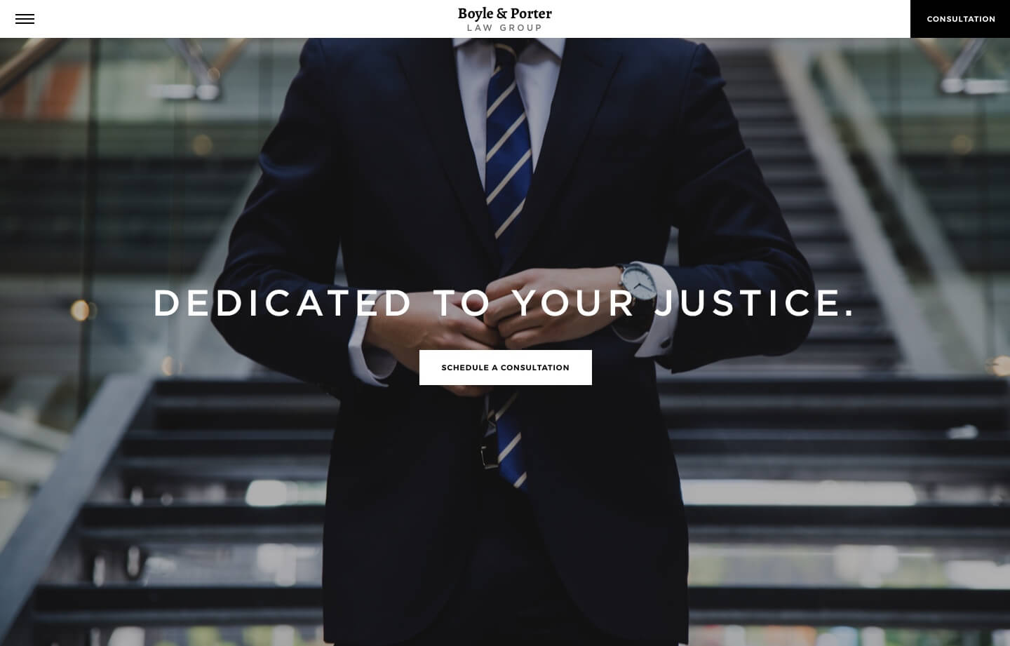 Law firm website for boyle and porter