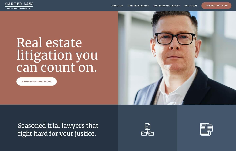 website for carter law real estate litigation