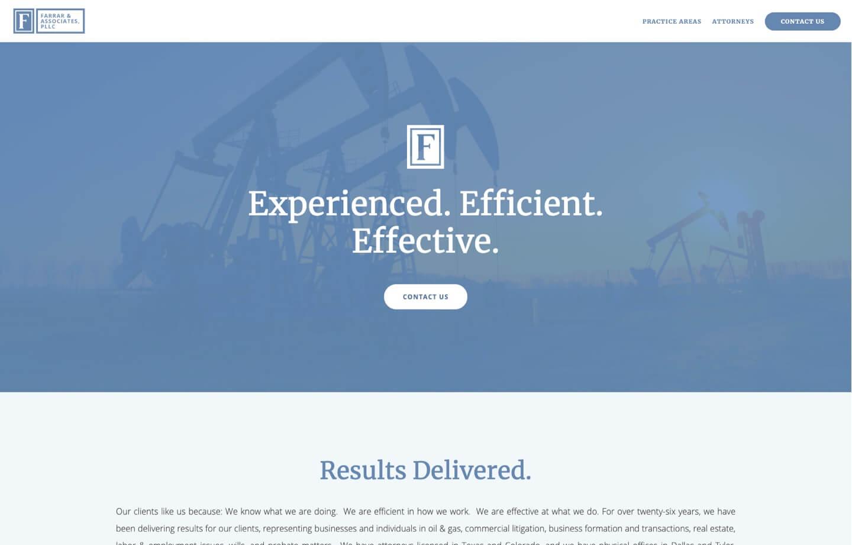 law firm website Farrar and Associates PLLC