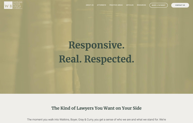 law firm website watkins boyer gray curry pllc