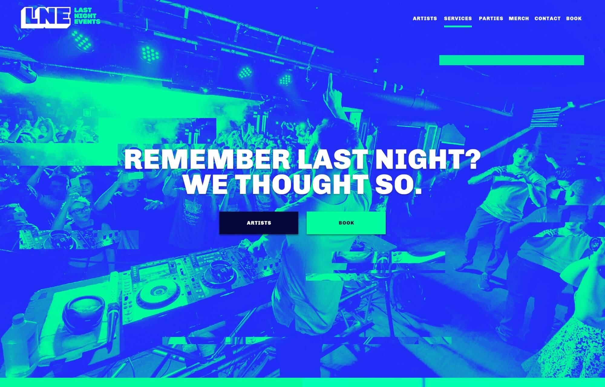 Modular Orange Website for LNE Last Night Events