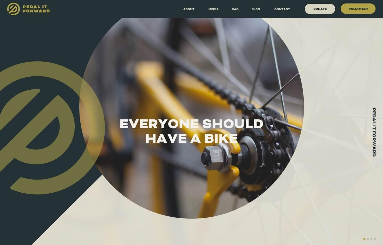 nonprofit website for pedal it forward a nonprofit for bikes