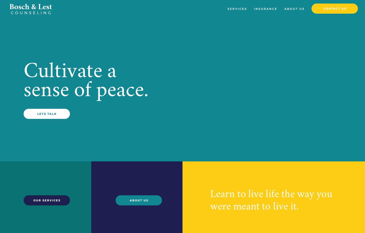 Bosch and Lest Counseling center website