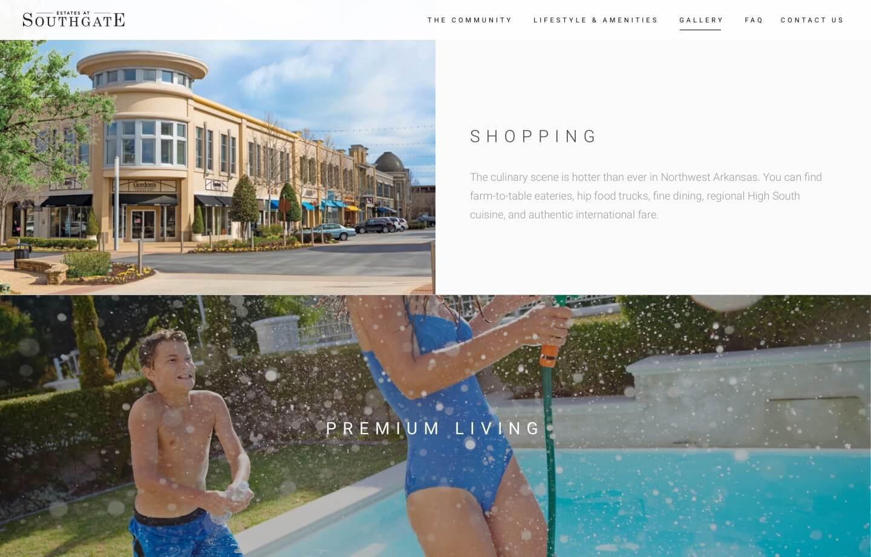 Real estate community website for estates at southgate