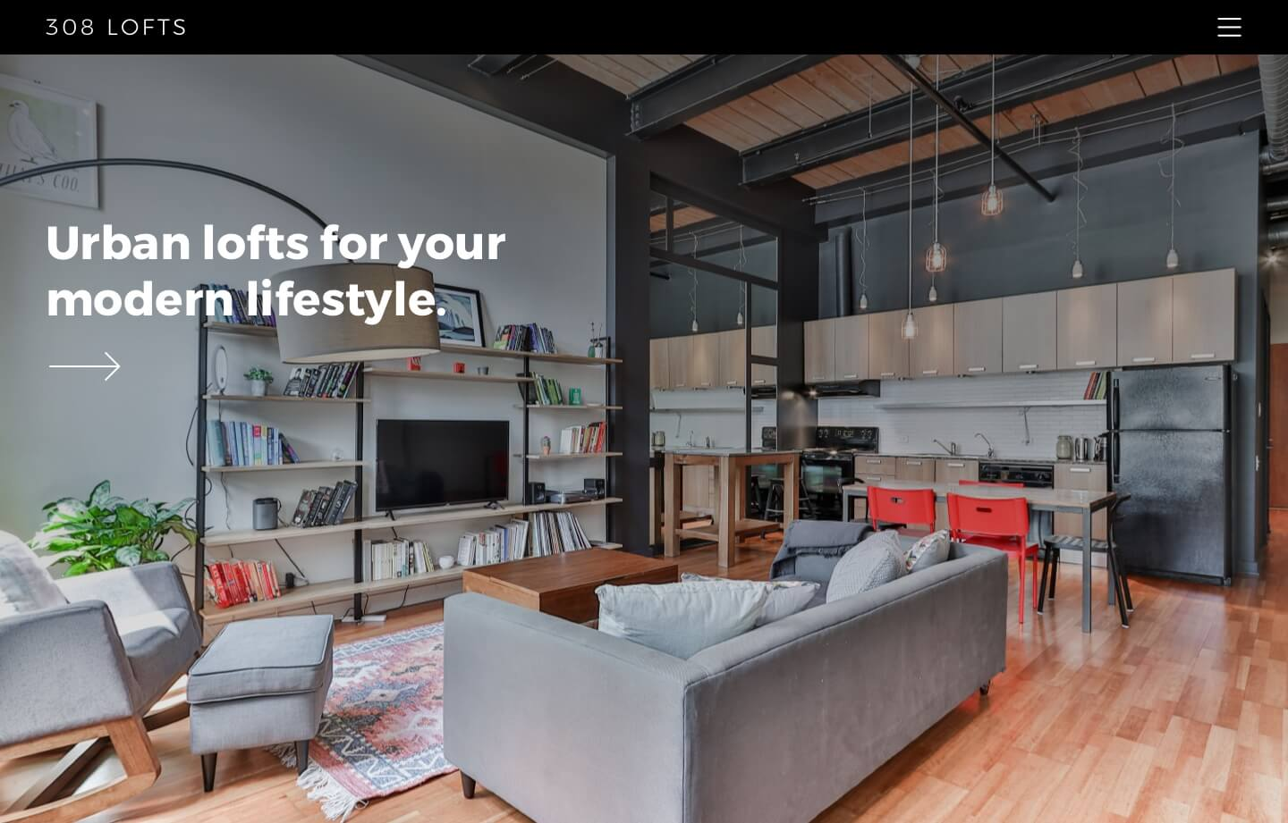 website for 308 lofts and real estate