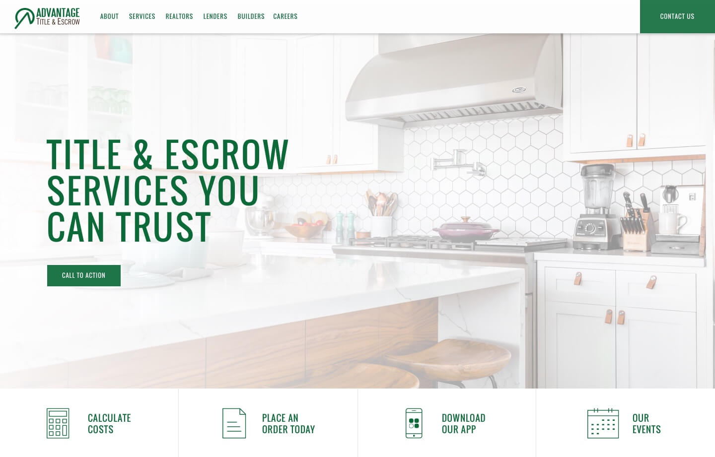 Title and Escrow service website for advantage title and escrow